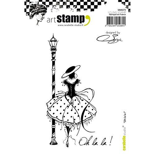 Carabelle Studios Timbri Cling di Carabelle Studio, oh la la, per Stampa su Carta, Realizzazione di Biglietti e Scrapbook, Multi-Colored, taglia unica