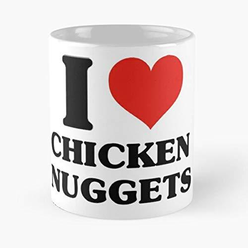 I Love Chicken Nuggets – de beste koffiemok van wit marmerkeramiek.