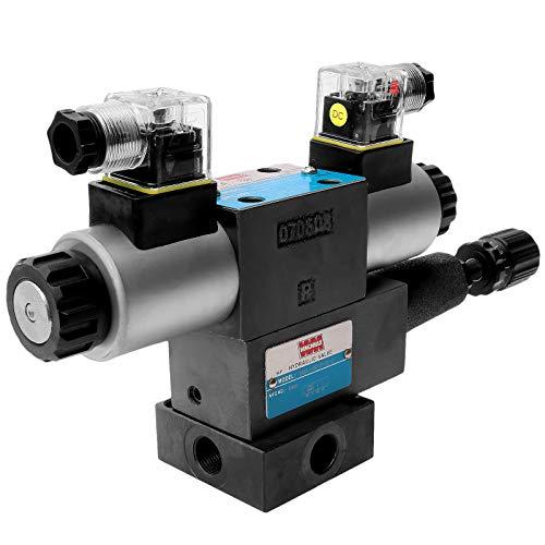 Winchmax CETOP3/NG6 - Válvula solenoide de 24 V, colector y regulador