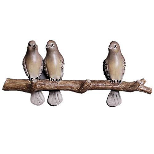 ALG DREI süße Vögel, Kleiderhaken, umweltfreundliche Harzmaterialien, langlebig, korrosionsbeständig, gehen in die Natur, Formen die frische Textur neu