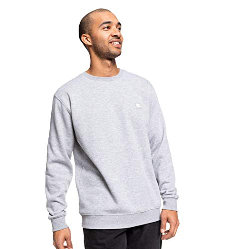DC Apparel Herren Rebel Sweatshirt, Grey Heather, XL