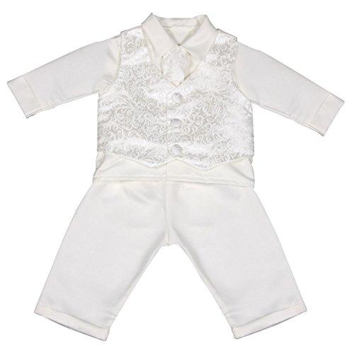 Vivaki Baby Jungen (0-24 Monate) Taufbekleidung weiß weiß 3-6 Monate