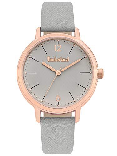 Timberland Damen Analog Quarz Uhr mit Leder-Kalbsleder Armband TBL15960MYR.79
