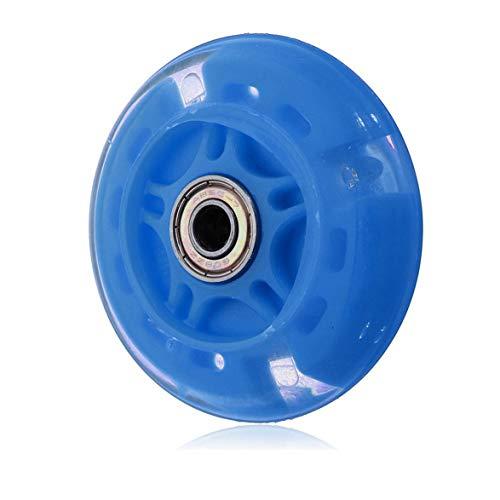 DBSUFV Ruedas de Repuesto para Scooter de 80 mm con rodamientos ABEC 7, Luces Intermitentes de Scooter duraderas Mini o Maxi con Flash LED - Reemplazo para Scooters Kick/Razor (Azul)