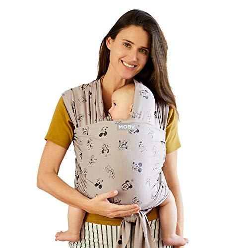 신생아를 위한 모비 랩 베이비 캐리어  빈티지 미키 & 친구  아기 랩 캐리어   1 베이비 랩  모든 바디 유형에 맞게 아기 안전 및 안전 유지