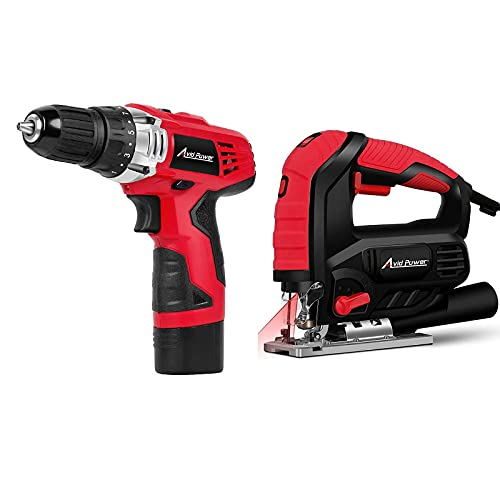 12V Cordless Drill Bundle with 7.0A Jig Saw 3000 SPM