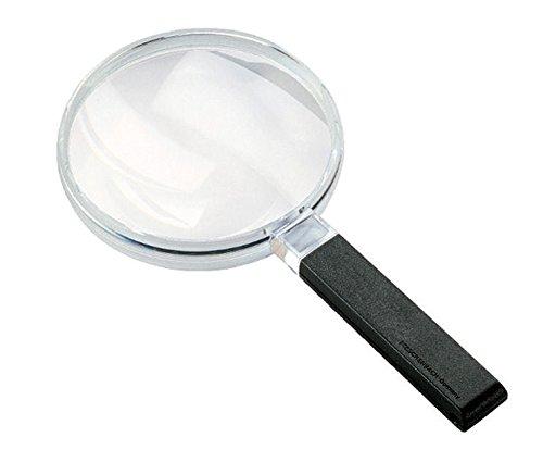 Biconvex Leselupe [Eschenbach 2642120] PXM®-Leichtlinse, DUPLEX-beschichtet für randscharfe, verzeichnungsfreie Abbildung, Abmessungen Linse: Ø 120 mm, Vergrößerung: 2x, Dioptrie: 3,2
