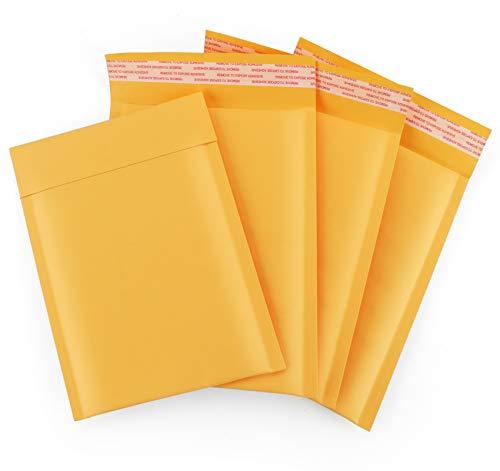 Luftpolsterumschläge A5, 60 Stück Gelbes Papier 16cm x 23cm Poly Bubble Mailers Padded Envelopes Selbstversiegelnde, Versandtaschen Umschläge Bubble Lined für Luftpolster Kuvert
