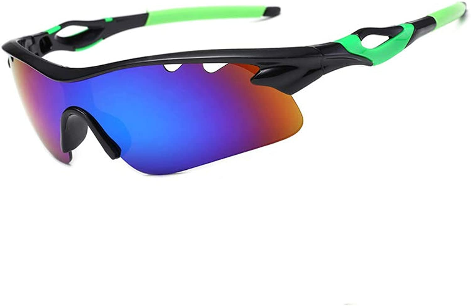 Hosgor Polarized Sports Sunglasses Sun Glasses with 5 Interchangeable Lenses for Men Women Baseball Cycling Riding Runing