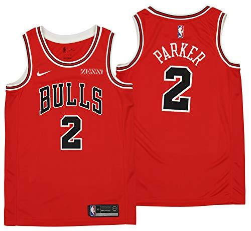 Nike Men's Chicago Bulls Jabari Parker Icon Swingman Jersey #2, Red X-Large 52