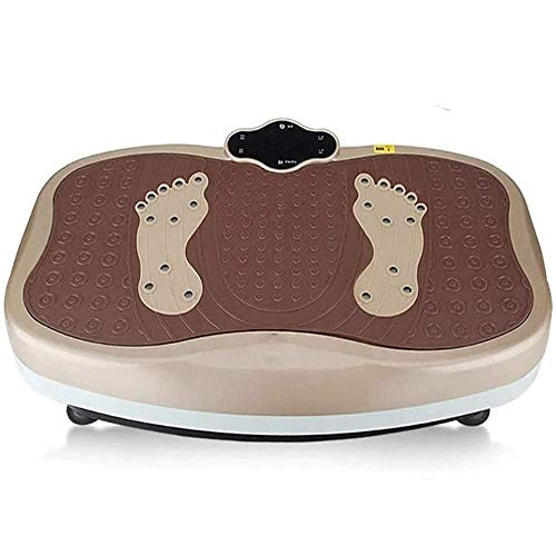 Plataforma Vibratoria Ultra Slim Placa de vibración Máquina de ejercicios para la forma física en el hogar y pérdida de peso, plataforma de fitness con masaje magnético / masaje de shiatsu / pedal ant