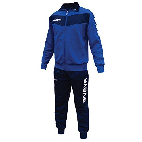 Perseo Sport Tuta Uomo Givova TR018 SPEDIZIONE & RESO Gratuito (XL, Azzurro/Blu)