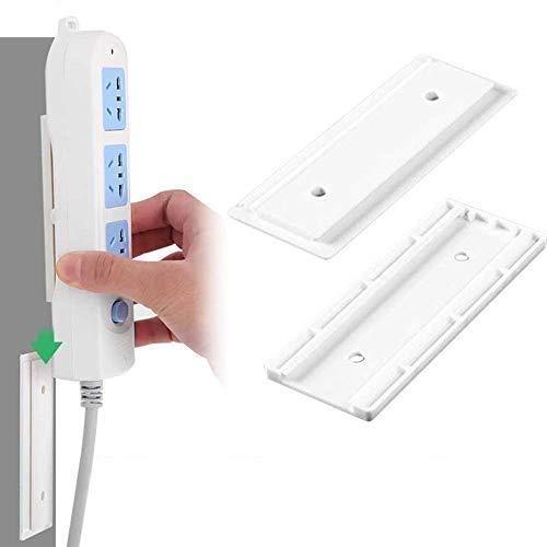 Turbobm Nahtlose Punch-Free Plug Sticker Holder Wandhalterung Steckdosenleiste Inhaber Lagerung für Steckdosen Wandhalterung Shelf Stand Holder