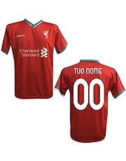 Maglia T-Shirt Replica Liverpool Personalizzata Personalizzabile Adulto Bambino 2020/2021 (Salah, MANè, FIRMINO, VANDIJK)