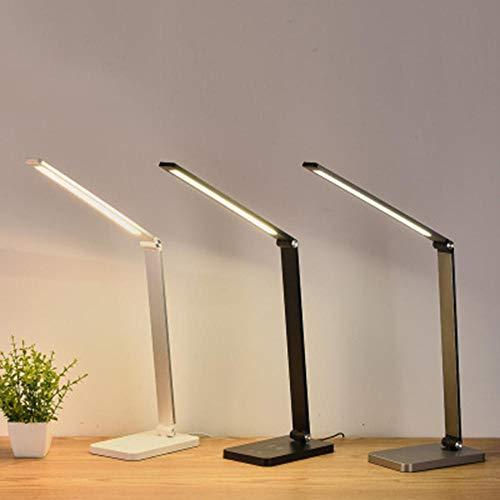 Schreibtischlampe Rosa Dimmbar, 5V LED Metall Tischlampe 1000lm Leselampe Augenschutz FüR Lesen,Studieren,Arbeit(Schwarz)