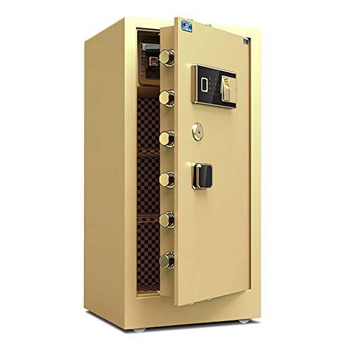 Gabinete extra grande seguro Caja fuerte for el hogar digital Caja de Seguridad Rectángulo del bloqueo de los gabinetes Fuerte de Dinero Hotel de oficina ( Color : Gold , Size : 50x45x100cm )