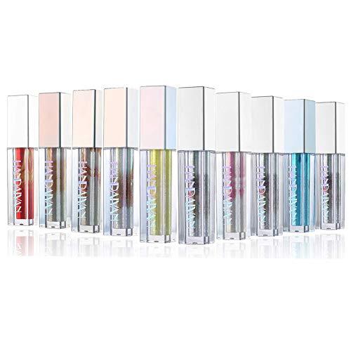 Rechoo Glitter Liquid Eyeliner Langlebig Wasserdicht Sparkling Eyeliner Lidschatten Stift (10 Pcs Shimmer)
