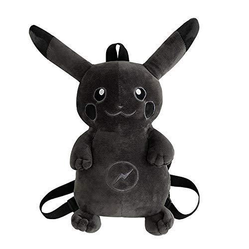 MHBY Cartoon Tasche, niedlichen Cartoon Pokemon Blitz Pikachu dunklen Plüschtier Kinder Kinderrucksack Rucksack