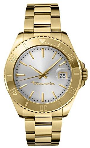 Tamaris - Femme - B08101000 - Quartz Analogique - Aiguilles Lumineuses - Cadran Argent - Doré - Bracelet Acier Inoxydable
