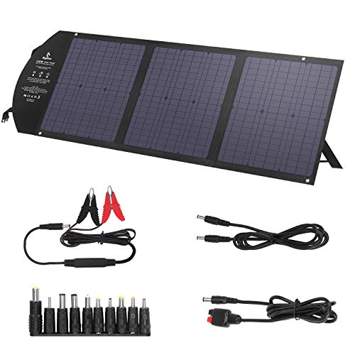 potente para casa Cargador solar plegable BigBlue120W DC + PD60W Tipo C + 2 puertos USB, panel solar de 18 V …