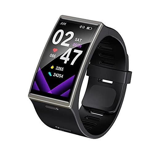LEMFO DM12 IP68 - Reloj inteligente para hombre 2021 de 1,9 pulgadas, pantalla de 170 x 320 cm, resistente al agua y al agua, para Android iOS (negro)