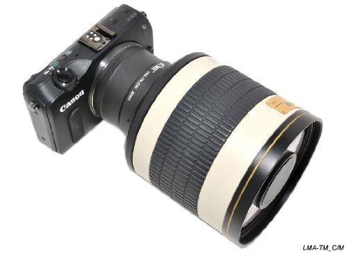 KiwifotosAdaptador de Montura de Objetivo para T y T2de Objetivo a Canon EF-M (EOS-M)