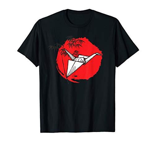 Origami Kranich Vogel Tshirt | Japanische Papier Faltkunst