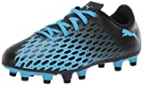 PUMA unisex child Puma Spirit Iii Firm Ground Soccer Shoe, Luminous Blue-puma Black, 4 Big Kid US