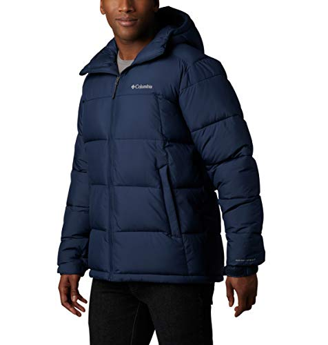Columbia Men's Pike Lake Hooded Winter Jacket, Water repellent & Breathable, Collegiate Navy , Large