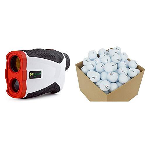 Second Chance Erwachsene 1300 Golf Entfernungsmesser Mit Slope-Switch Technologie (1300 Yard Range), weiß & Golf Lakebälle Wilson 100 Premium Grade A, weiß, VAL-100-BOX-WIL