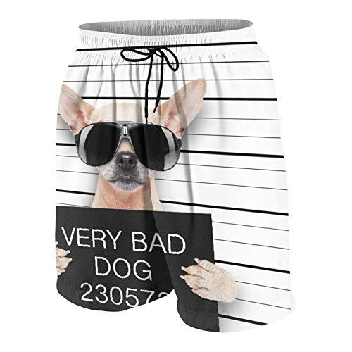 MAYBELOST Pantalones Cortos de Playa para Hombre,Imagen del Bulldog Inglés,Trajes de baño de Secado rápido Trajes de baño con Forro de Malla y Bolsillos