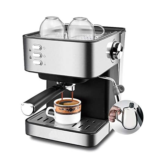RONGJJ Cafetera Espresso, Macchina Da Caffè, Presión 15 Bares, 1,5L, Brazo Doble Salida,...