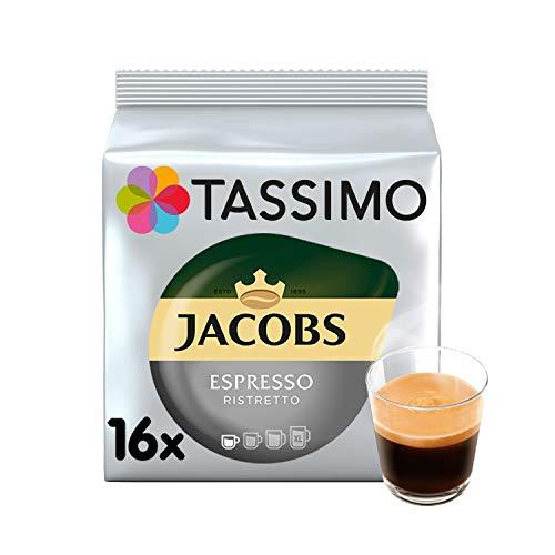 Tassimo Kaffee Jacobs Espresso Ristretto 16 Kapseln - 5 Packungen (80 Getränke)