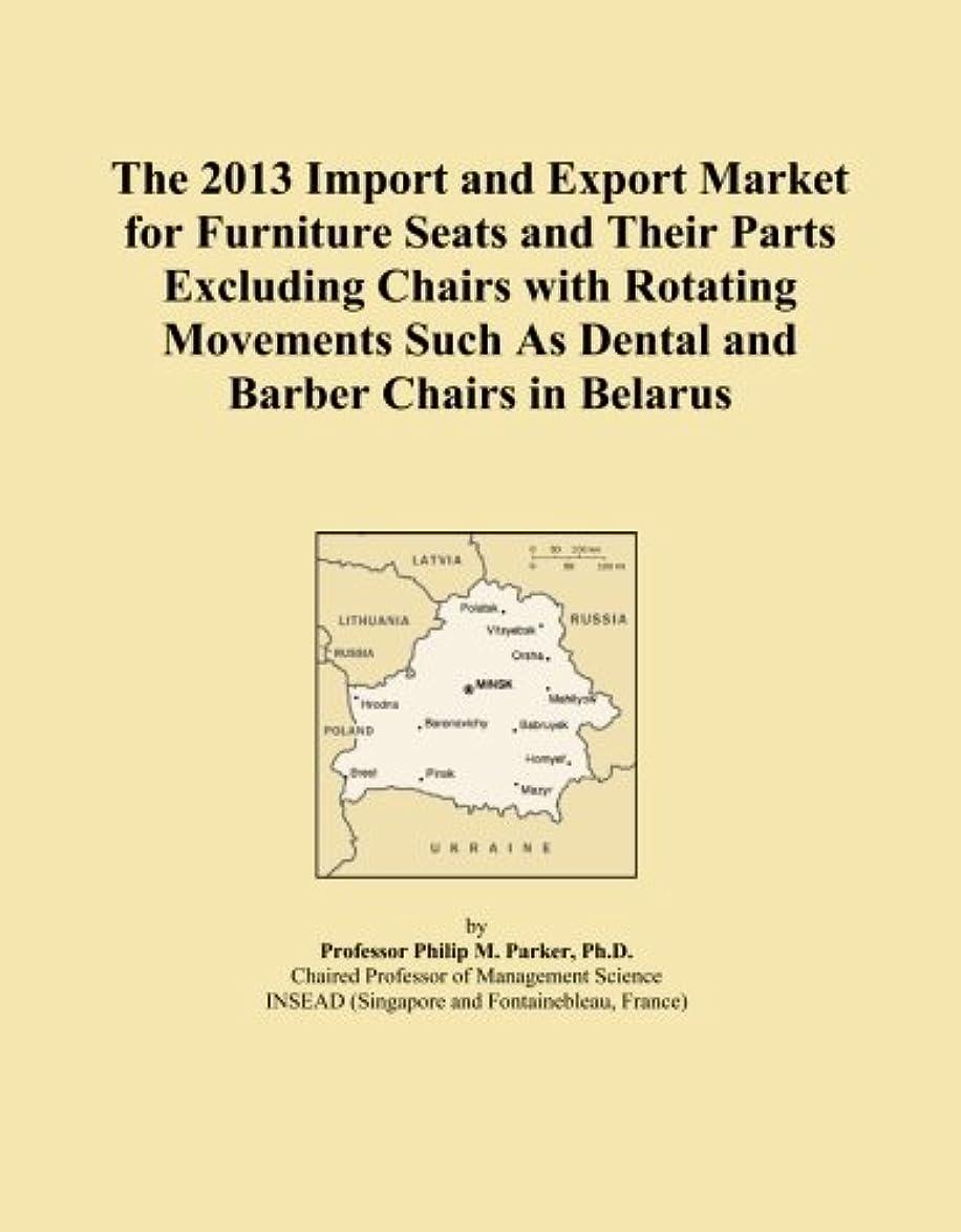 トン灰勝者The 2013 Import and Export Market for Furniture Seats and Their Parts Excluding Chairs with Rotating Movements Such As Dental and Barber Chairs in Belarus