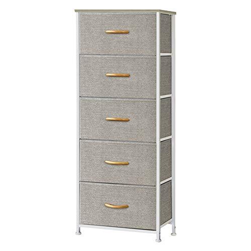 Homfa Bathroom Floor Cabinet, Wooden Free Standing Storage Cabinet Side Organizer Unit with 4 Drawer, White