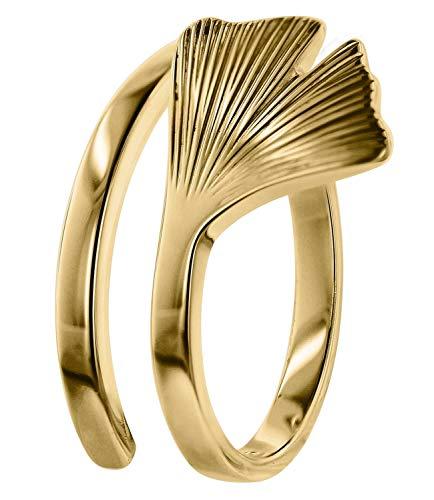 trendor Gingko Damen-Ring Gold 333 75038-52 Ringgröße 52/16,6