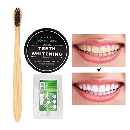 Tanden bleken houtskoolpoeder, 30g tandbleekpoeder, natuurlijke organische tandenbleekmiddel, actieve kool…