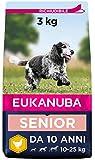 EUKANUBA Cibo Secco per Cani per la Cura dei Cani Anziani di Taglia Media, Ricco di Pollo Fresco, 3 kg