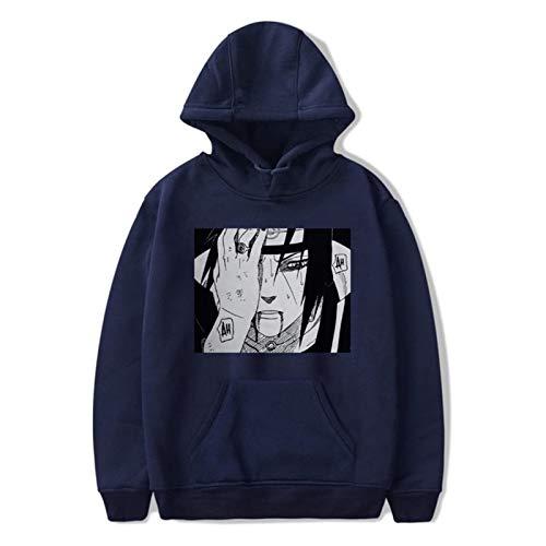 WLKJ Sudadera con Capucha Unisex Harajuku Hoodie de Hombre Impreso Streetwear Fashion Casual Sudadera Chaqueta (Color : Lan2, Size : XXS)