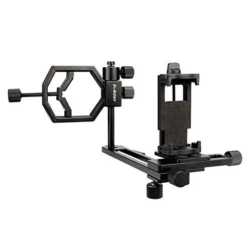 Svbony Handyadapterhalterung, Universal Phone Telescope Adapter, 360 ° Verstellbar Kamera-Telefonadapter für Teleskopmikroskop-Spektiv
