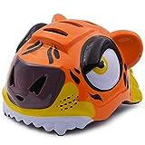 Casco de Tiger para niños Casco para Montar en el Exterior Casco para Patinar Casco para Patinar Casco Deslizante, Adecuado para la Cabeza (52-58cm)-Orange