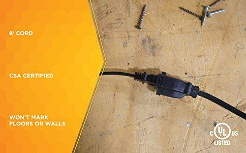 Woods General Purpose Outdoor/Indoor Extension Cord (8 Ft, Black)…