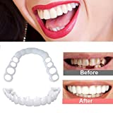 ZNXY 5 Pairs Top and Bottom Teeth to Snap in Teeth,Braces Veneers Dentures Fake Teeth Smile Snap Instant and Confident on Smile Comfort Fit Flex Cosmetic Teeth Denture Teeth Top Cosmetic Veneer