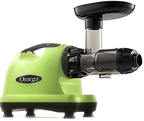 Omega J8006 Nutrition Center Quiet Dual-Stage Slow Speed Masticating Juicer Creates Continuous Fresh Healthy Fruit and Vegetable Juice at 80 Revolutions per Minute High Juice Yield, 150-Watt, Green