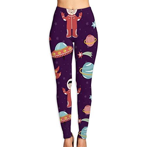 AAAshorts Space Discover Pioneers - Pantalones de yoga impresos para mujer