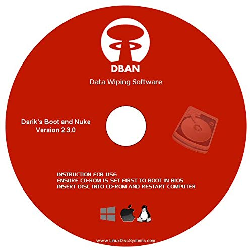DBAN Hard Drive Eraser & Data Clearing Utility v2.3.0 on CD