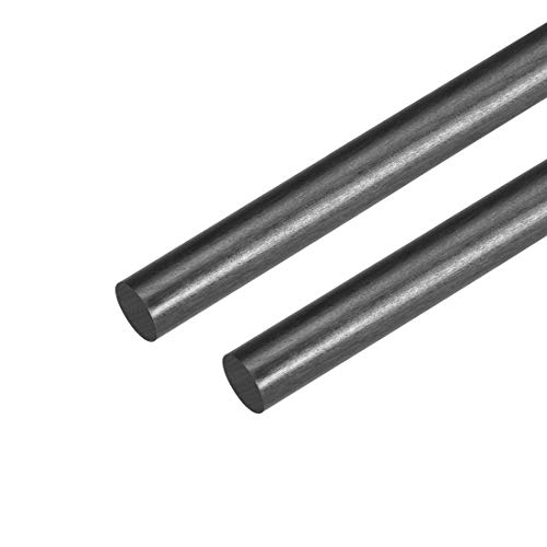 uxcell 6mm Carbon Fiber Rod for RC Airplane Matte Pole US, 400mm 15.7 inch, 2pcs