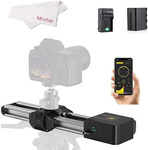 Zeapon Motorized Micro 2 Camera Slider Travel with Battery and Charger,Distance 54cm/21in, 4.5KG All-Direction Capacity, 39 Decibels Motor,Supported Android & iOS APP Contol