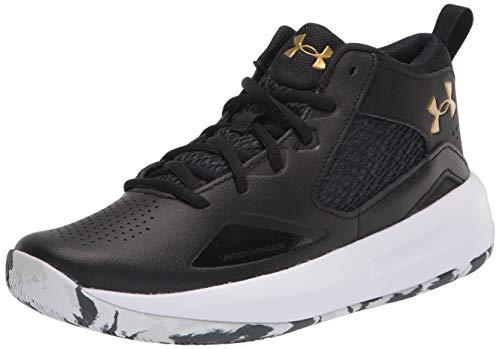 Under Armour Lockdown 5, Zapatillas de Baloncesto Hombre, Black/Metallic Gold 003, 43 EU