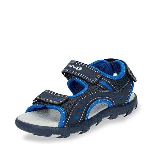 Geox Sandal PIANETA J9264A Unisex - Kinder Trekking Sandalen,Jungen,Mädchen Outdoor-Sandale,Sport-Sandale,Aussensteg,3-Fach Klett,Navy/ROYAL,32